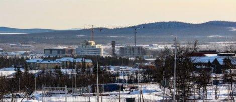 Vy mot nya centrum. Foto: Kiruna kommun / stadsomvandling