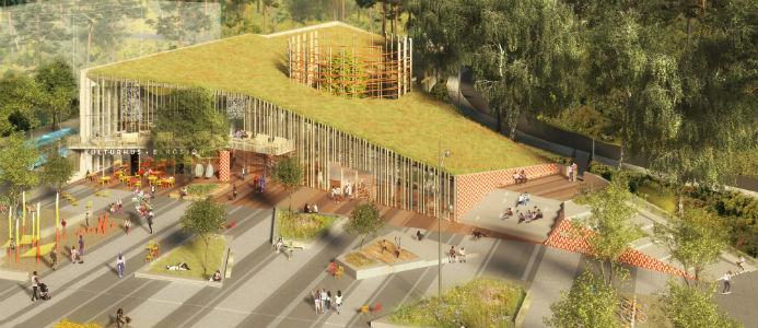 Kulturhuset kommer att byggas i tre våningar och bli cirka 2 500 kvadratmeter stort. Bild: Sweco