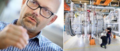Hans Holmström, VD på Siemens Industrial Turbomachinery AB. Foto: Siemens