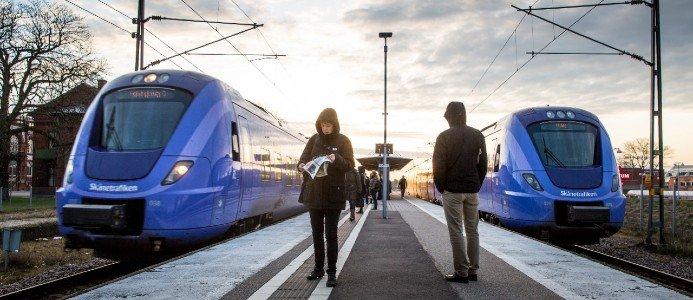 Sträckan trafikeras bland annat av Skånetrafikens pågatåg. Photo: News Øresund - Johan Wessman