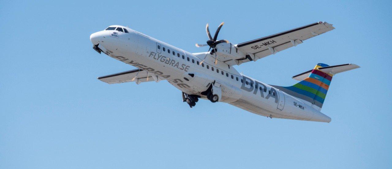 Inrikesflygbolaget BRA ansöker om rekonstruktion. Foto: Flygbolaget BRA.