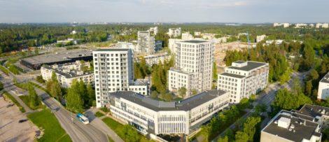 Totalt blir det 218 lägenheter i olika storlekar. Bild: NCC