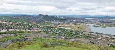 Kiruna gruvindustriområde. Foto. LKAB