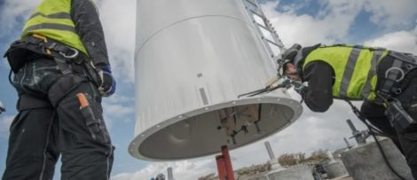 Modvions vindkraftstorn byggs i laminerat trä.
