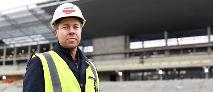 Johan Quarfordt, projektledare på Sportfastigheter. Foto: Jeanette Hägglund