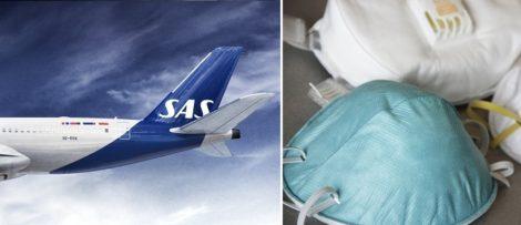Kravet på munskydd gäller på alla flygningar mellan 18 maj och 31 augusti. Bild: SAS