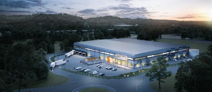 Den nya anläggningen blir en kombination av huvudkontor och produktionsanläggning. Bild: Logistic Contractor