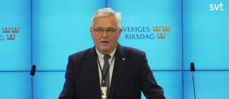 Centerpartiets tf. partiledare Anders W Jonsson. Bildkälla: SVT
