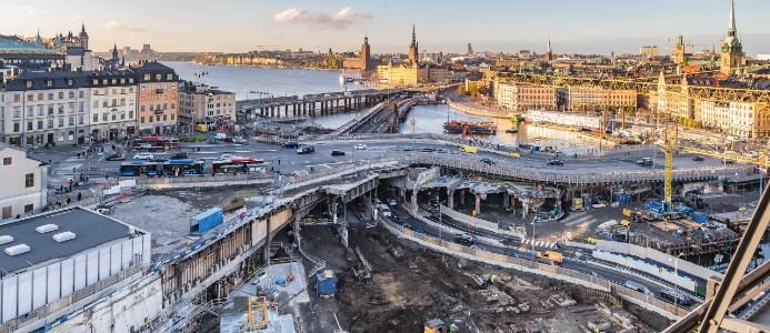 Slussenbygget väntas bli 3,5 miljarder kronor dyrare än beräknat. Foto: Flickr, Bengt Nyman (CC BY 2.0)