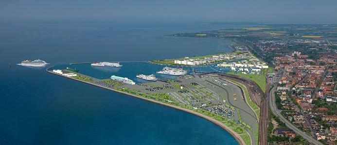 Visionsbild Trelleborgs hamn 2025. Arkitektkontor Arén AB