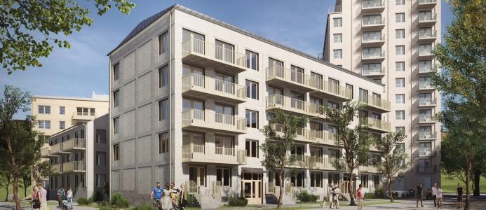 NCC ska bygga lägenheter i Älvsjöstaden. Fotograf: AIX Arkitekter