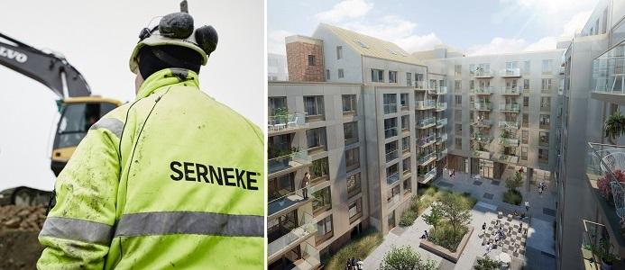 Serneke bygger i Stockholm innerstad. Foto: Pressbild