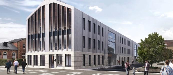 NCC:s uppdrag avser nyproduktion av kontorslokaler inklusive tillhörande utrymmen för teknik och förråd samt utemiljö och parkering. Fotograf: Sweco