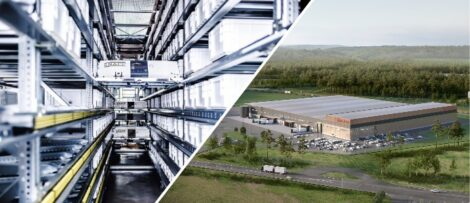 Åhléns framtida automatiserade lager i Rosersberg / 2022.