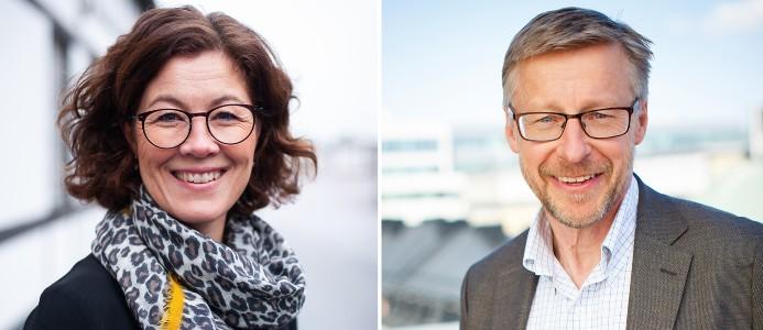 Petra Krüger, fotograf Eva Kronfält Thorvinger och Mats Hederos, Foto: Pressbild/AMF Fastigheter