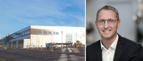 Bild på lagret i Umeå / Stefan Bergström Hedmark, vd för Martin & Servera Logistik. Foto: Martin Servera