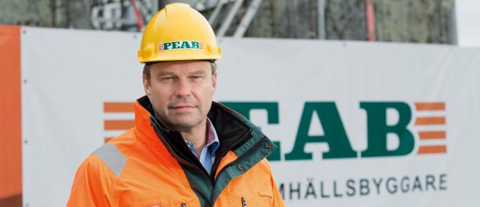 Peter Martin, säkerhetschef på Peab. Bild: Peab