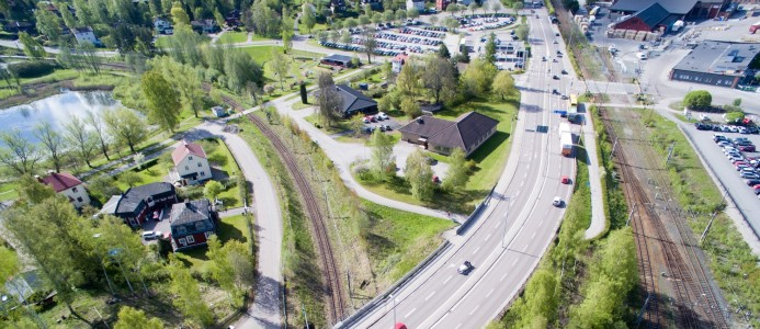 NCC bygger om riksväg 50 för ökad säkerhet. Fotograf: Trafikverket