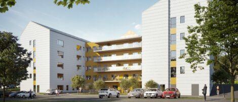 Villa Brogården ska stå färdigt att tas i drift under första kvartalet 2022. Bild: Skanska