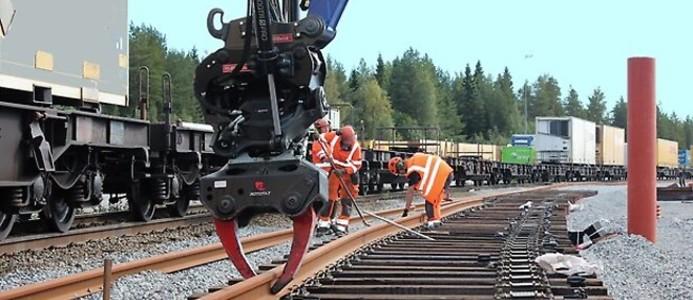 Kombiterminalen i Gammelstad förses med ett välbehövligt extra järnvägsspår. Foto: Luleå kommun