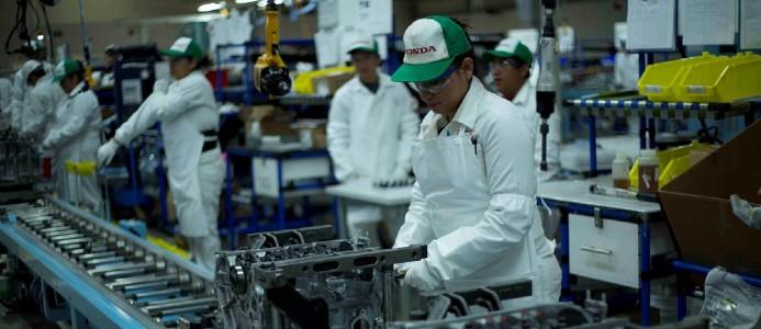 En av hondas produktionsanläggningar. Foto: Honda