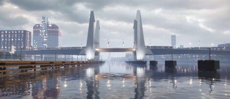 Såhär ska bron se ut när den är klar. Illustration: Göteborgs Stad