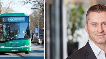 Han tar över rodret när bussoperatörens vd lämnar