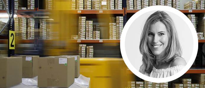 Bild på Jennie Högstedt Björk, vd på Odd Molly, företaget som investerat i de nya logistikfastigheterna.