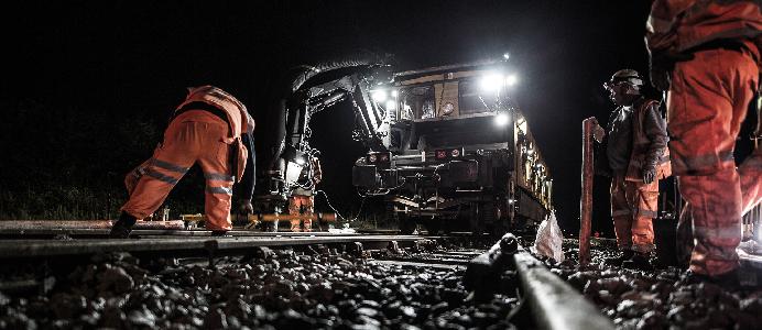 Railcare är verksamma inom järnvägsunderhåll. Fotograf: David Persson, Railcare