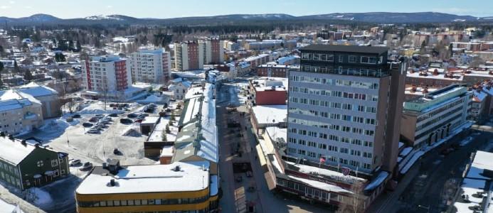 Vy över gågatan i Boden. Bild: Boden kommun/KOMM