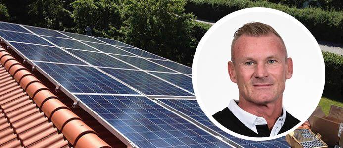 Peter Olsen, grundare och vd för Solkraft Sverige AB. Foto: Solkraft Sverige AB
