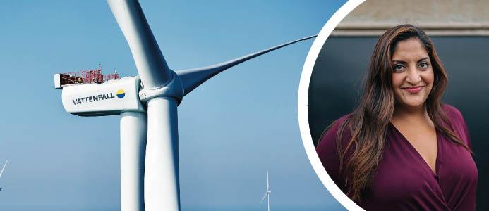 Natalie Sial, ny presschef hos Vattenfall. Foto: Vattenfall