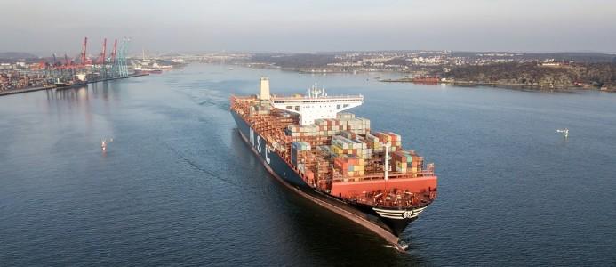 MSC Viviana och andra jättefartyg kommer att kunna anlöpa Göteborgs hamn fullastade från och med 2026. Bild: Göteborgs Hamn AB.