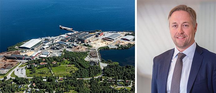 SCAs sågverk i Rundvik Fotograf: Bergslagsbild AB / Jonas Mårtensson Affärsområdeschef Skog, Fotograf: Per-Anders Sjöquist