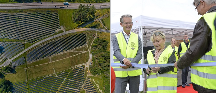 Idag invigdes HSBs solcellspark utanför Strängnäs. Bilder: HSB