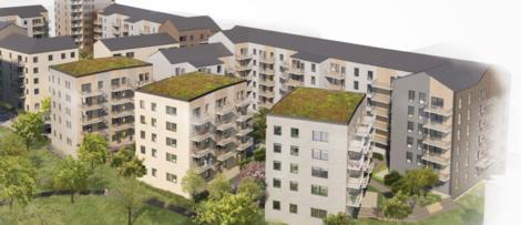 Illustration över planerad bebyggelse i Börjetull. Illustration: ÅWL arkitekter