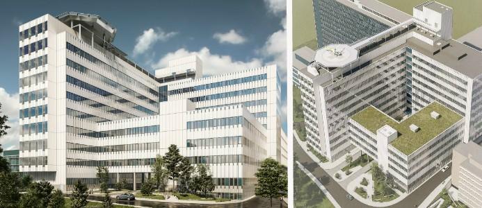 nya byggnader vid Danderyd sjukhus