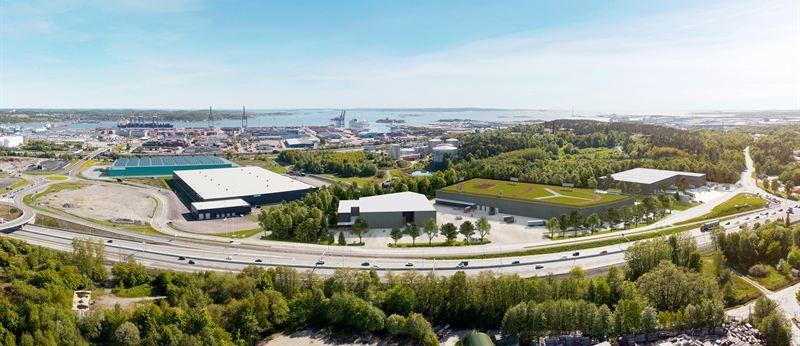 NCC har färdigställt Sveriges största e-handelslager för livsmedel. Bild: Diakrit