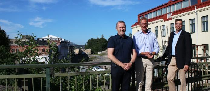Bjarne Fjellanger, Mölndala Fastighets AB, Mats Bergh, Johanneberg Science Park och Christian Schwartz, Mölndal Energi.