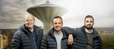 Thomas Jansson, Robert Davidsson och Jakob Akfidan leder den nya avdelningen i Örebro. Foto. HMB