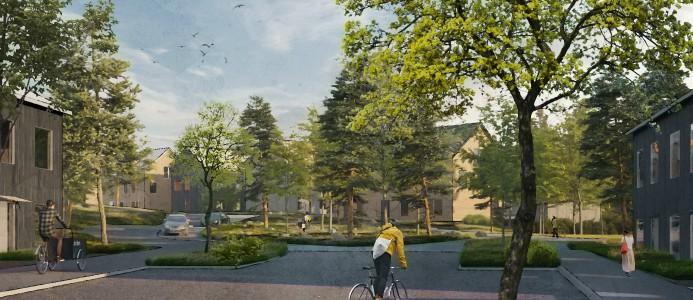 stadsdelen Fredriksdal i västerås tar form