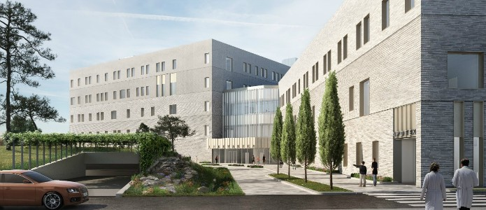 Bravida ansvarar för all elinstallation i den nya byggnaden på vid Aker Sykehus.