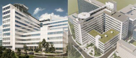 Nya byggnader vid Danderyds sjukhus