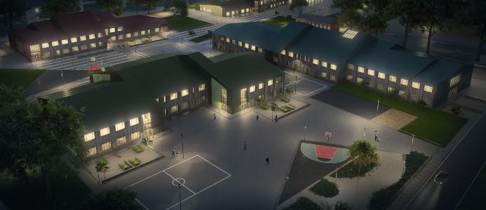 Gylle grundskola. Bild: Skanska