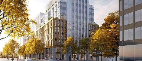 Antal våningsplan: 12 våningar ovan mark samt 2 källarplan. LOA: ca 19 800 kvm, BTA: ca 26 600 kvm. Beräknad byggstart: maj 2021. Bildkälla Castellum