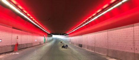 Den knappt 500 meter långa tunneln har byggts som en så kallad sänktunnel. Av: COWI